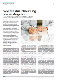 Beschaffungsmanagement 10 2010