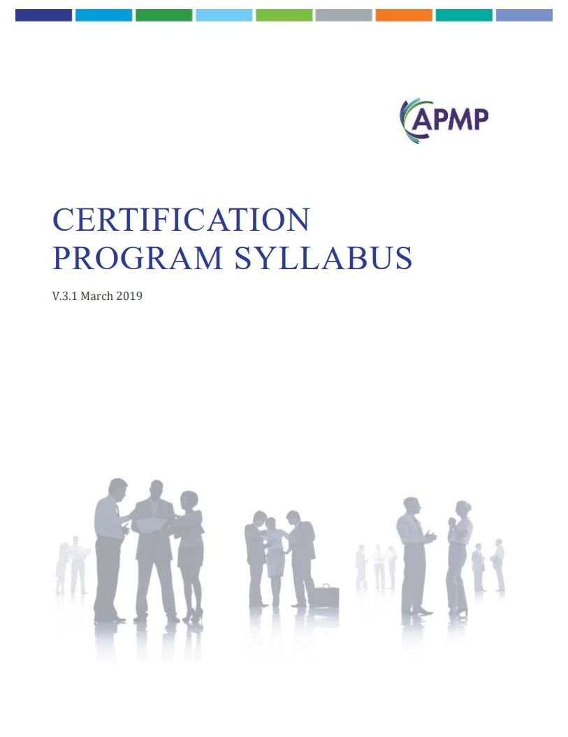 New APMP Certification Syllabus